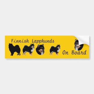 Finnish Lapphunds on Board Bumper Sticker