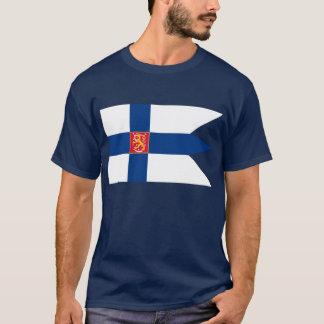 Finnish Naval Flag T-Shirt