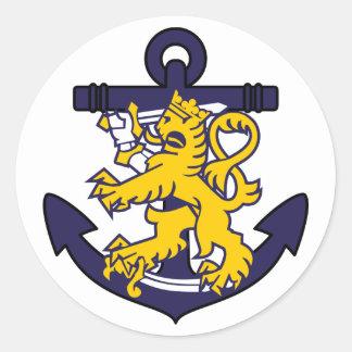 Finnish Navy Round Sticker