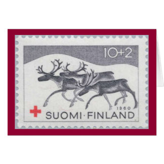 Finnish Reindeer Christmas Card