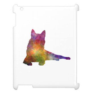 Finnish Spitz 01 in watercolor Case For The iPad 2 3 4