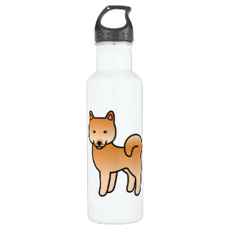 Finnish Spitz Cartoon 710 Ml Water Bottle
