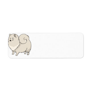 finnish spitz cartoon return address label