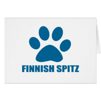 FINNISH SPITZ DOG DESIGNS CARD