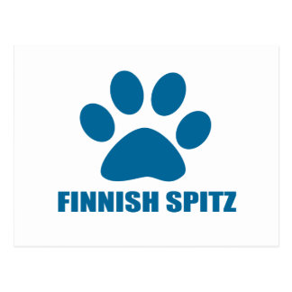 FINNISH SPITZ DOG DESIGNS POSTCARD
