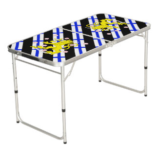 Finnish stripes flag beer pong table