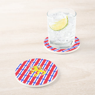 Finnish stripes flag coaster