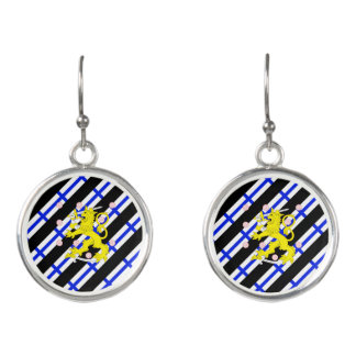 Finnish stripes flag earrings