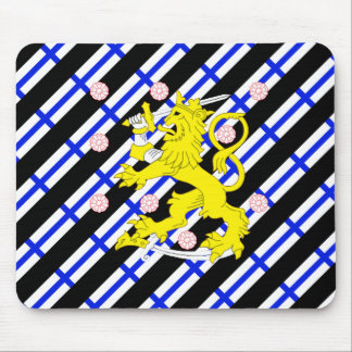 Finnish stripes flag mouse pad