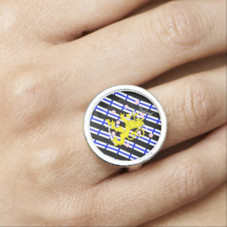 Finnish stripes flag ring