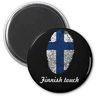 Finnish touch fingerprint flag magnet