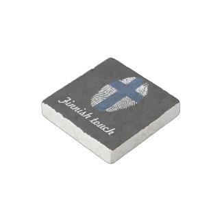 Finnish touch fingerprint flag stone magnet