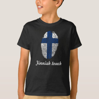Finnish touch fingerprint flag T-Shirt