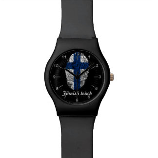 Finnish touch fingerprint flag watch