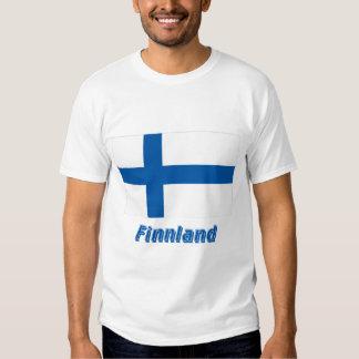 Finnland Flagge mit Namen Tshirts