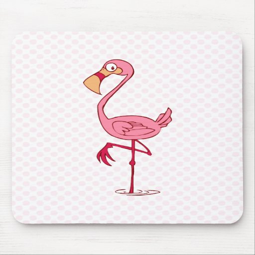 Finny Flamingo Mouse Pad