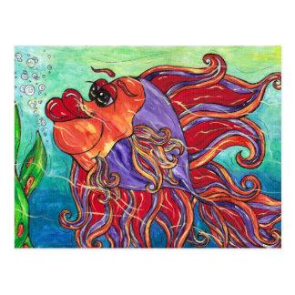 Finny the Fighting Fish Postcard