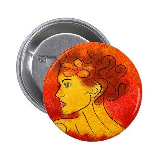 Finoluccia V1 - simple beauty 6 Cm Round Badge