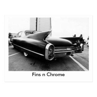 Fins n Chrome Postcard