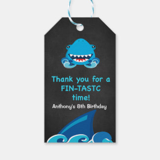 Fintastic Time... Shark Thank You  Gift Tags