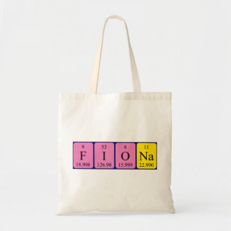 Fiona periodic table name tote bag