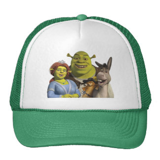 Fiona, Shrek, Puss In Boots, And Donkey Cap