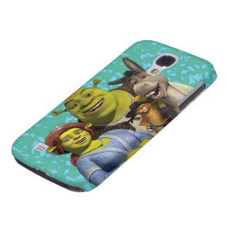 Fiona, Shrek, Puss In Boots, And Donkey Samsung Galaxy S4 Cover