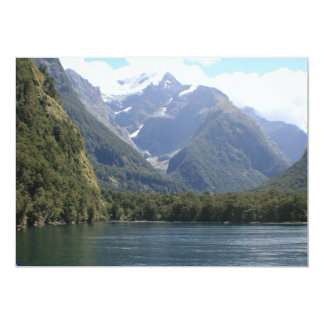 Fiordland National Park, New Zealand 13 Cm X 18 Cm Invitation Card