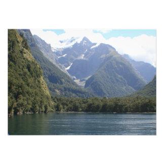 Fiordland National Park, New Zealand Personalized Invitation