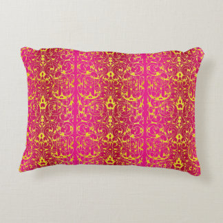 Fiore in Fuschia and Yellow Decorative Cushion