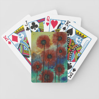 Fiori rossi al tramonto bicycle playing cards