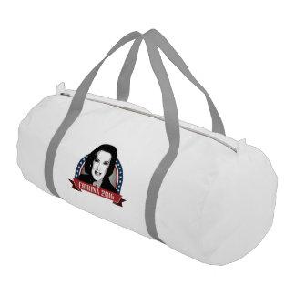 Fiorina 2016 Campaign Banner Nameplate Gym Duffel Bag