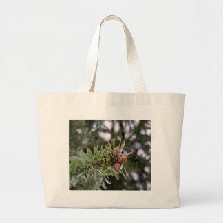 Fir buds large tote bag