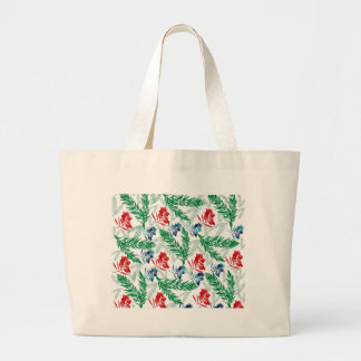 Fir Tree Branches with Berries Jumbo Tote Bag