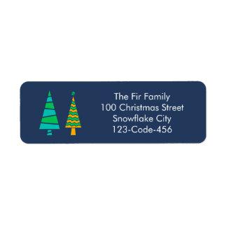 Fir Trees Address Labels