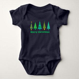 Fir Trees Christmas Baby Bodysuit