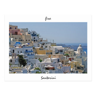 Fira, Santorini, Greece Postcard