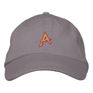 Fire #1 Letter A Embroidered Baseball Caps
