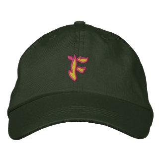 Fire #1 Letter F Embroidered Cap