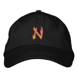 Fire #1 Letter N Embroidered Hat