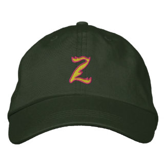 Fire #1 Letter Z Embroidered Hats