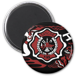fire 3 6 cm round magnet