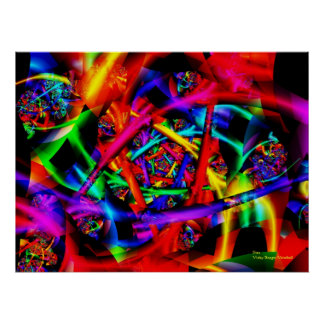 Fire Abstract Art Poster