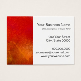 Fire - Abstract Background Art in Deep Orange Business Card