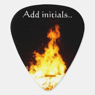 Fire Add Initials Standard Guitar Picks