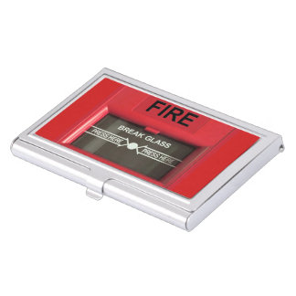 Fire Alarm Business Card Holder