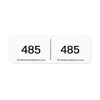 Fire Alarm Circuit Label- 485 Return Address Label