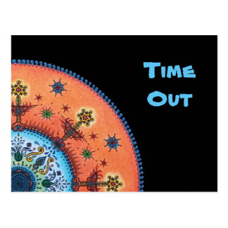 "Fire altar Mandala ""time out"" Greetings/Postcard Postcard"