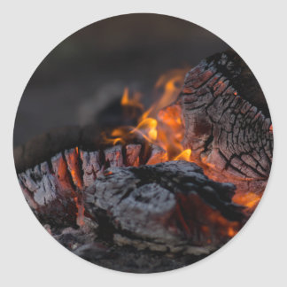 Fire and ashes classic round sticker