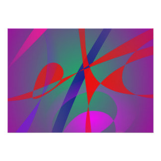 Fire and Calmness Abstract Expression Custom Announcement